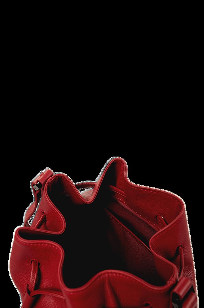 Plume Elegance Bucket Bag Ruby   4