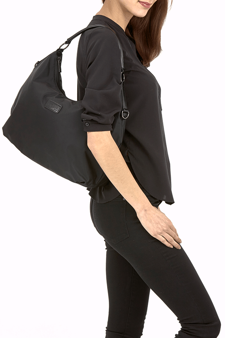 Lady Plume Hobo-laukku M Black | 3