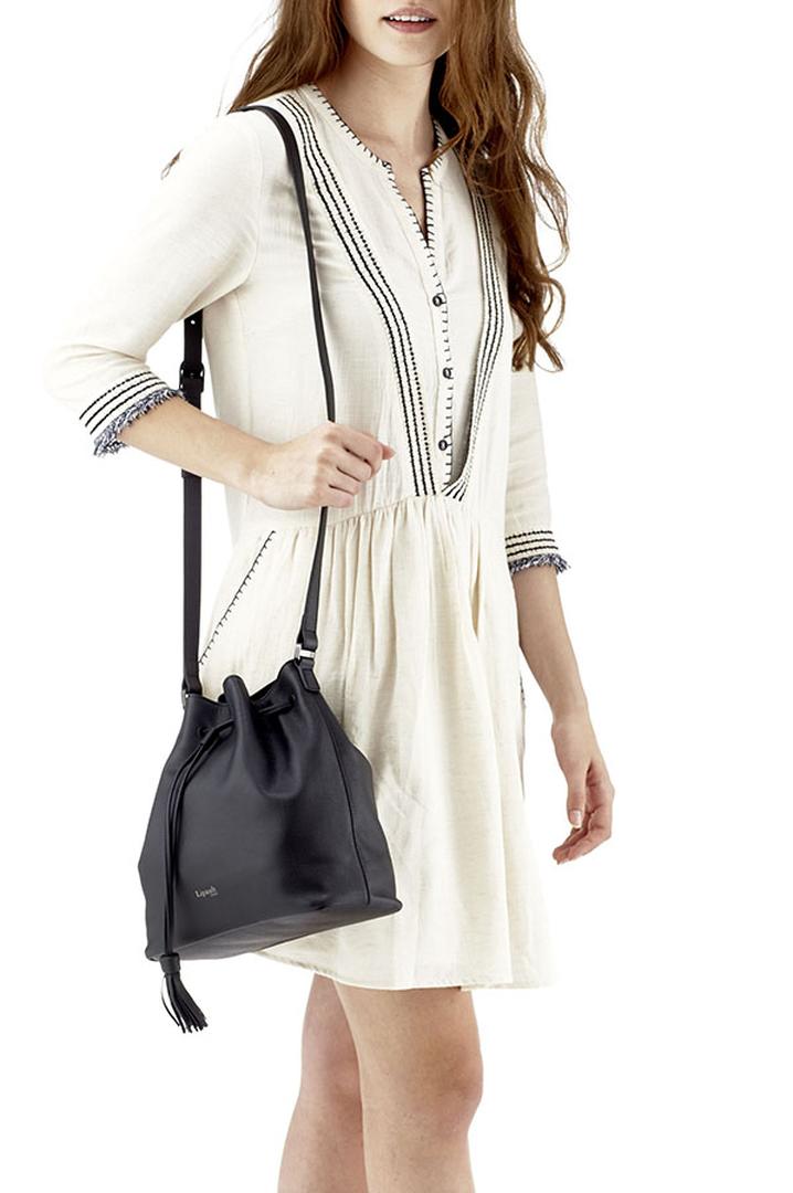 Plume Elegance Bucket Bag Black | 3