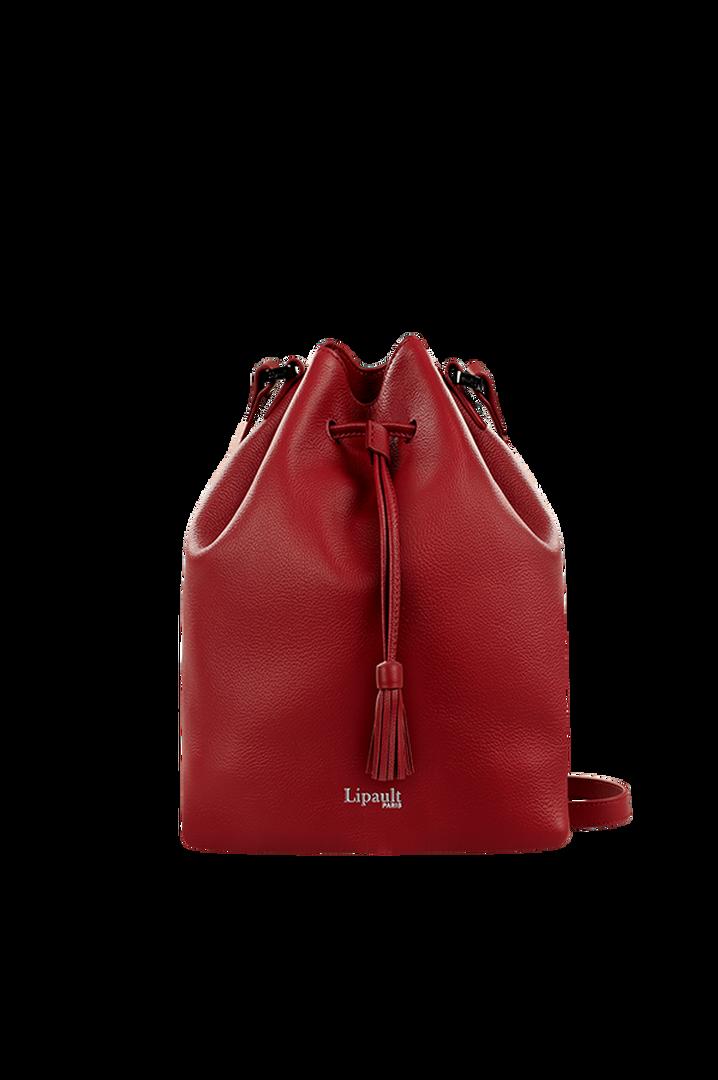 Plume Elegance Bucket Bag Ruby   1