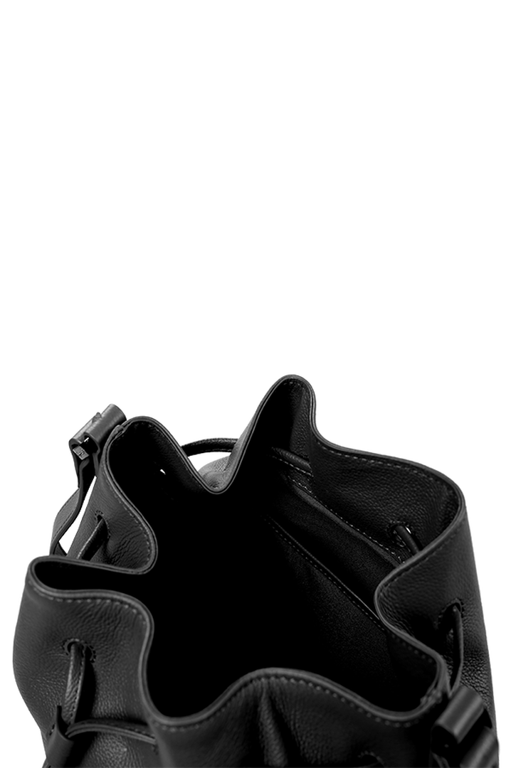 Plume Elegance Bucket Bag Black | 4