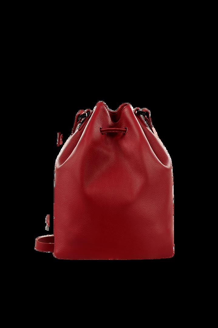 Plume Elegance Bucket Bag Ruby   2