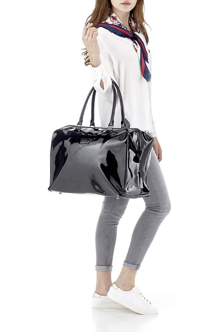 Plume Vinyle Weekend Bag M Black | 3