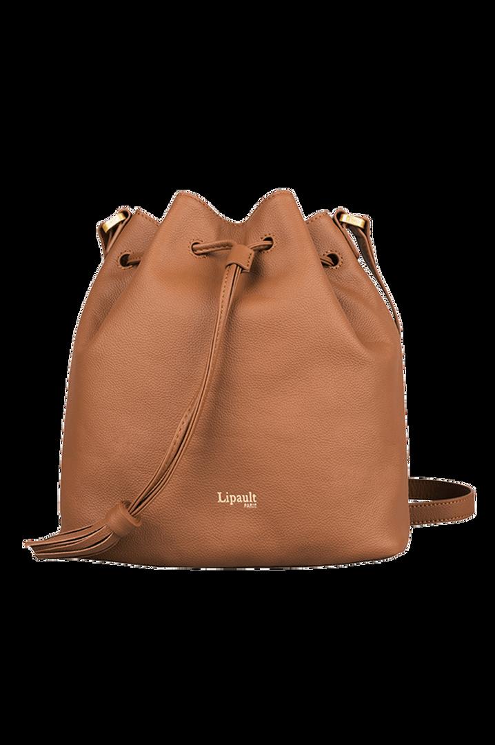 Plume Elegance Bucket Bag  Cognac | 1