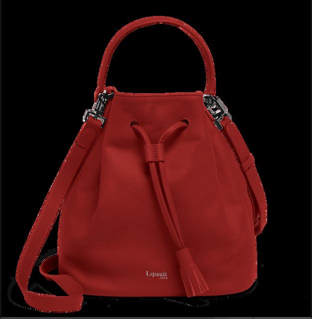 Plume Elegance Bucket Bag Ruby