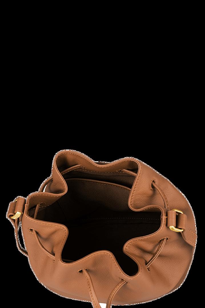 Plume Elegance Bucket Bag Cognac   2